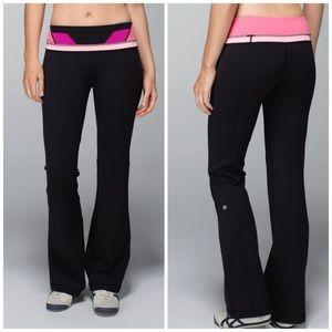 Lululemon Black Pink Groove Pants Full Luon